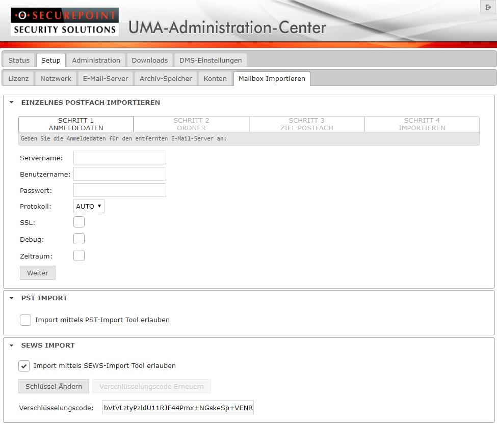 Securepoint EWS-Tool für UMA – Securepoint Wiki